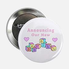 """Baby Girl 2.25"""" Button"""