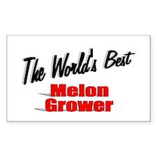 """The World's Best Melon Grower"" Decal"