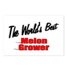 """""""The World's Best Melon Grower"""" Postcards (Package"""