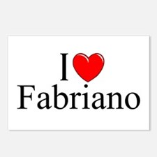 """""""I Love (Heart) Fabriano"""" Postcards (Package of 8)"""