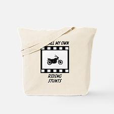 Riding Stunts Tote Bag