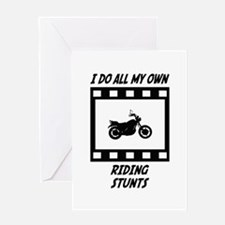 Riding Stunts Greeting Card