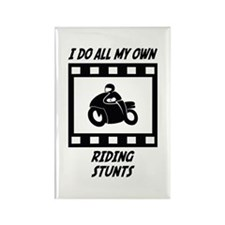 Riding Stunts Rectangle Magnet