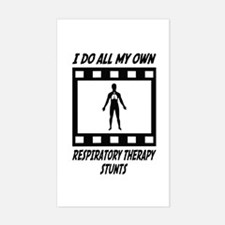 Respiratory Therapy Stunts Rectangle Decal