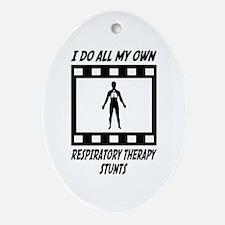Respiratory Therapy Stunts Oval Ornament