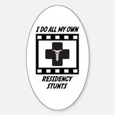Residency Stunts Oval Decal