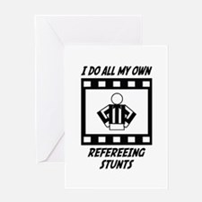 Refereeing Stunts Greeting Card