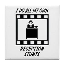 Reception Stunts Tile Coaster