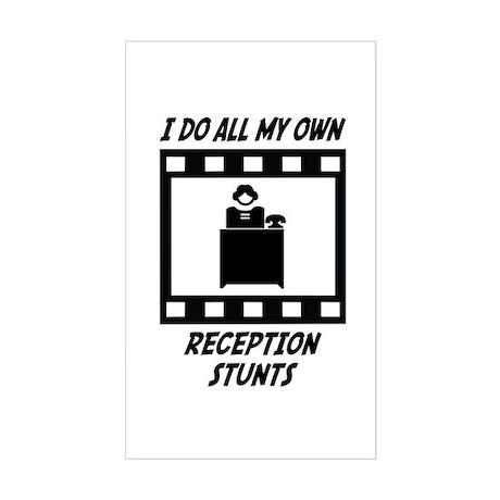 Reception Stunts Rectangle Sticker