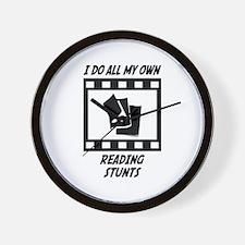 Reading Stunts Wall Clock