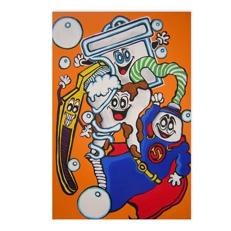 Toothy getting cleaned up! Postcards (Package of 8