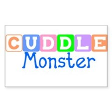 Cuddle Monster Rectangle Decal