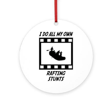 Rafting Stunts Ornament (Round)