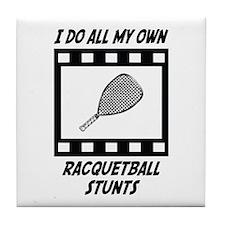 Racquetball Stunts Tile Coaster