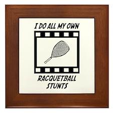 Racquetball Stunts Framed Tile