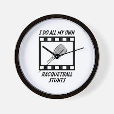 Racquetball Stunts Wall Clock