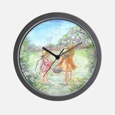 garden girls Wall Clock