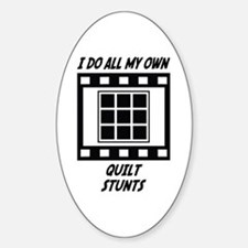 Quilt Stunts Oval Decal
