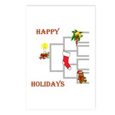 Pedigree Christmas Tree Postcards (Package of 8)