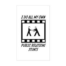 Public Relations Stunts Rectangle Decal