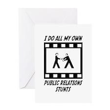 Public Relations Stunts Greeting Card