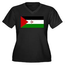 Flag of Western Sahara Women's Plus Size V-Neck Da