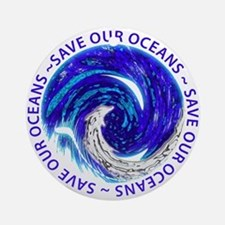 Save Our Oceans (Chrome) Ornament