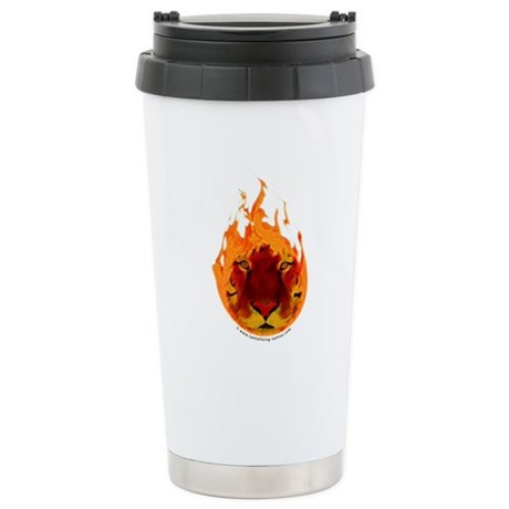 Tiger Flame Stainless Steel Travel Mug