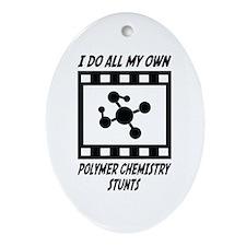 Polymer Chemistry Stunts Oval Ornament