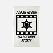 Police Work Stunts Rectangle Magnet