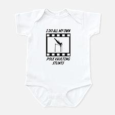 Pole Vaulting Stunts Infant Bodysuit