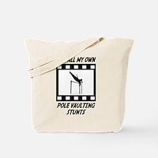 Pole Vaulting Stunts Tote Bag