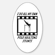 Pole Vaulting Stunts Oval Decal