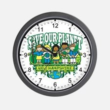 Earth Kids New Hampshire Wall Clock
