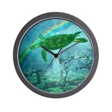 Rainforest Turtle Wall Clock