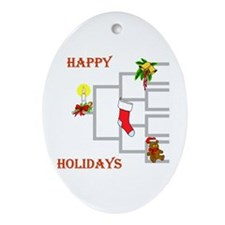 Genealogy Christmas<br>Oval Ornament