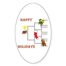 Genealogy Christmas<br> Oval Bumper Stickers