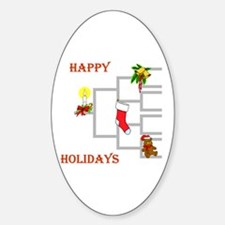 Genealogy Christmas<br> Oval Decal