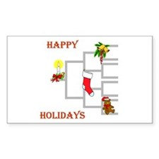 Genealogy Christmas<br> Rectangle Decal