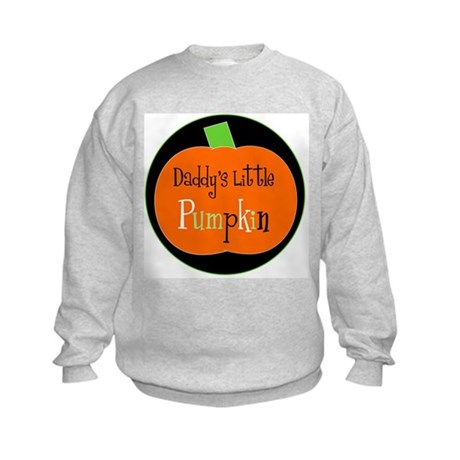 Daddy's Little Pumpkin Kids Sweatshirt