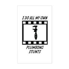 Plumbing Stunts Rectangle Decal