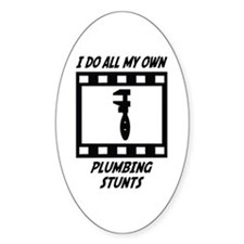 Plumbing Stunts Oval Decal