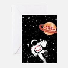 Space Cadet Late Birthday Cards (Pk of 10)