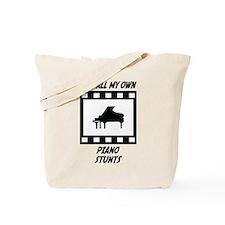 Piano Stunts Tote Bag