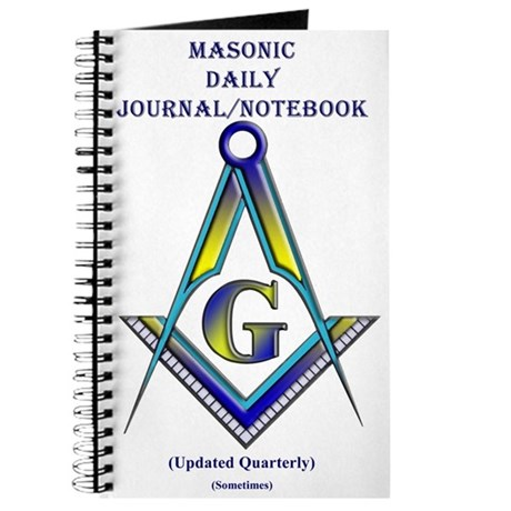 Masonic Once in a while Journal/notebook/diary