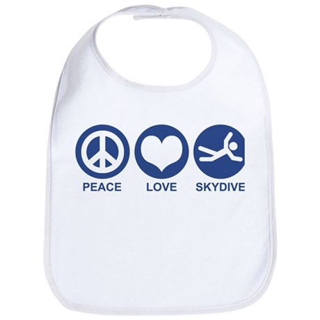 Peace Love Skydive Bib
