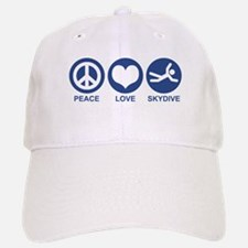 Peace Love Skydive Baseball Baseball Cap