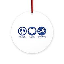 Peace Love Skydive Ornament (Round)