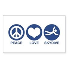 Peace Love Skydive Rectangle Decal