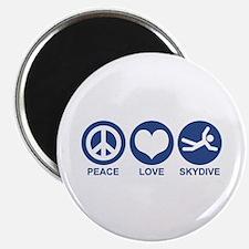 Peace Love Skydive Magnet